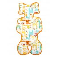 B100625 Двухсторонний - универсальный матрасик Capina Хлопок 100% /Жирафы