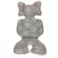 B100161 Двухсторонний - универсальный матрасик Capina Хлопок 100% / Медведи на сером