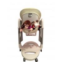 T125 Карман Capina для игрушек для стульчика Peg Perego Tatamia / молочный